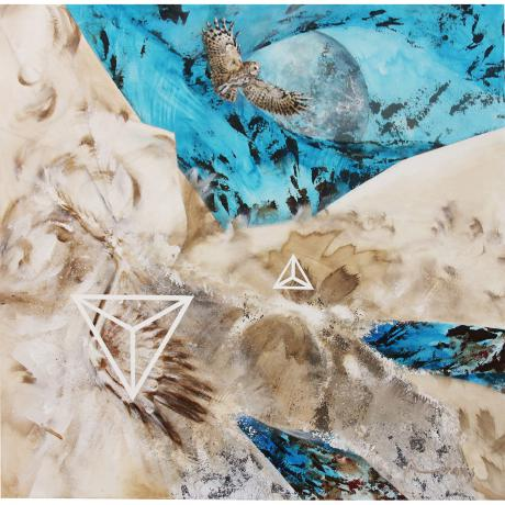 Anthony Evans, Broken Wing, 2016,  Mixed media on canvas  100 x 100 x 4cm
