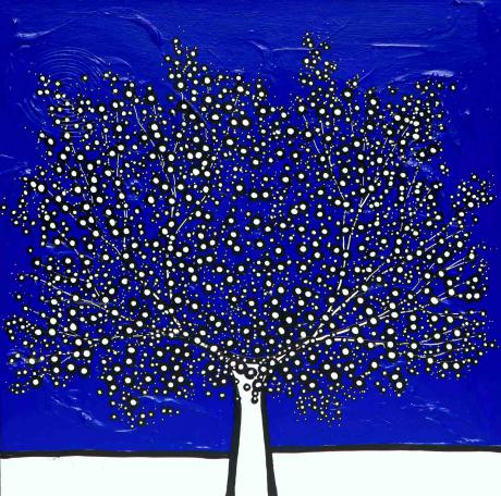 Richard Scott My Blue De Stijl Tree