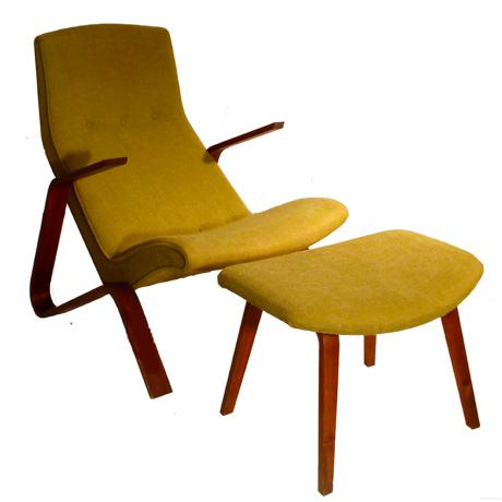 Grasshopper chair and ottoman
