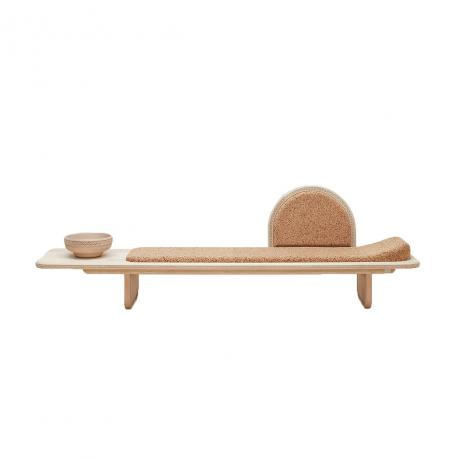 Laurie Wiid van Heerden, Meraki Daybed, Soft Maple wood and natural composite Cork, 41cm H x 57.5cm W x 2.8m L