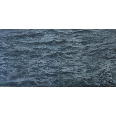 Ben Coutouvidis, The Sea, 2017, Oil on Canvas, 60cm x 120cm