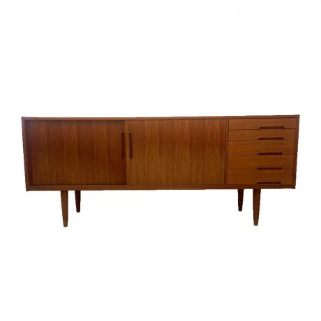Trento Sideboard, Designed by Nils Jonsson for Troeds, circa 1960, Teak wood, 190cm x 80cm x 45cm
