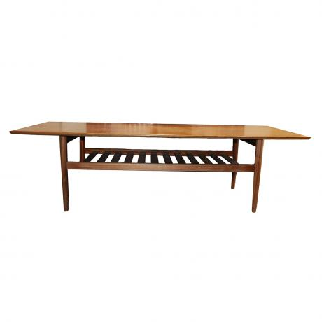 Scandinavian, 1960's, Coffee Table, wood, 45cm x 160cm x 58cm