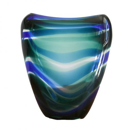 Floris Meydam, Netherlands  Leerdam, Unica glass, 19,5cm H  Signed by artist