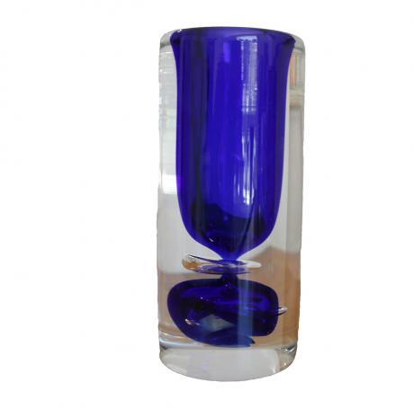 Sommerso, Art glass vase, 21m H
