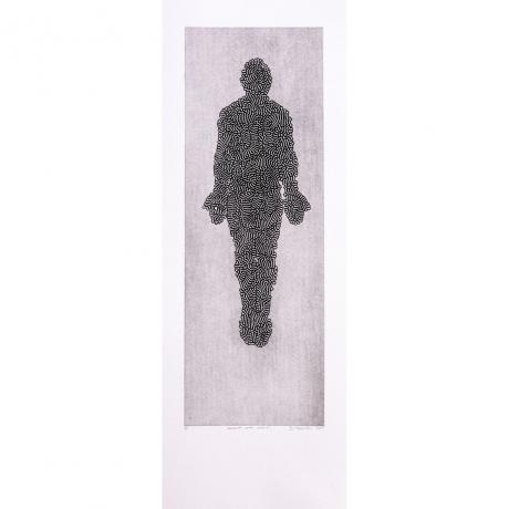 Stanislaw Trzebinski, Inversed Coral Male, Etching print on paper, Edition, 1/4 (framed), 79cm x 29cm