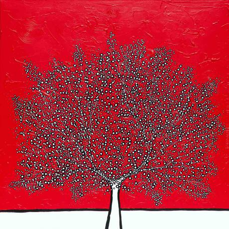Richard Scott My Red De Stijl Tree