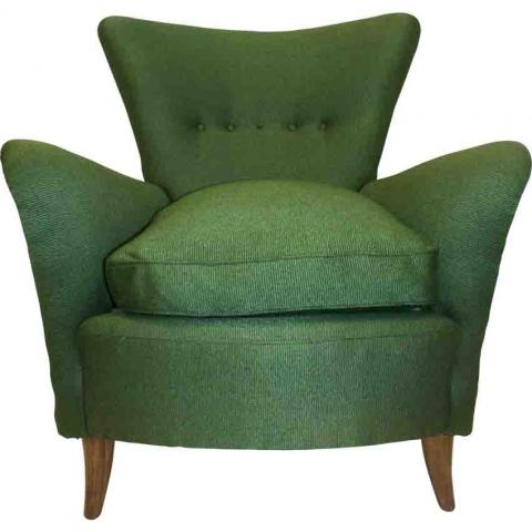 Italian  Green armchair